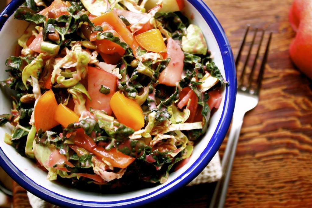 Honey Crisp, Kale & Persimmon Salad | IPOM