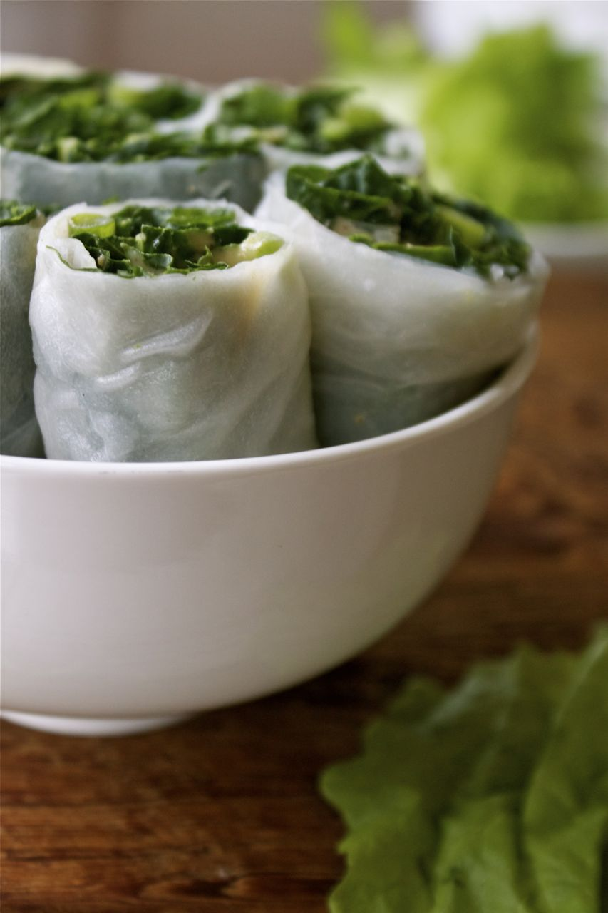Kale & Scallion Salad Rolls | In Pursuit of More