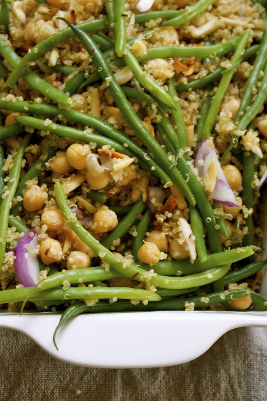 Easy Quinoa & Green Bean Skillet | In Pursuit of More