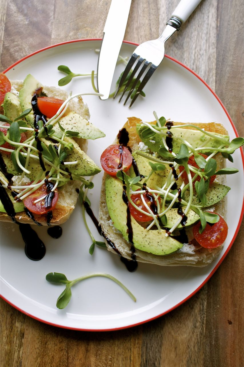 Broiled Avocado Sandwich | In Pursuit of More