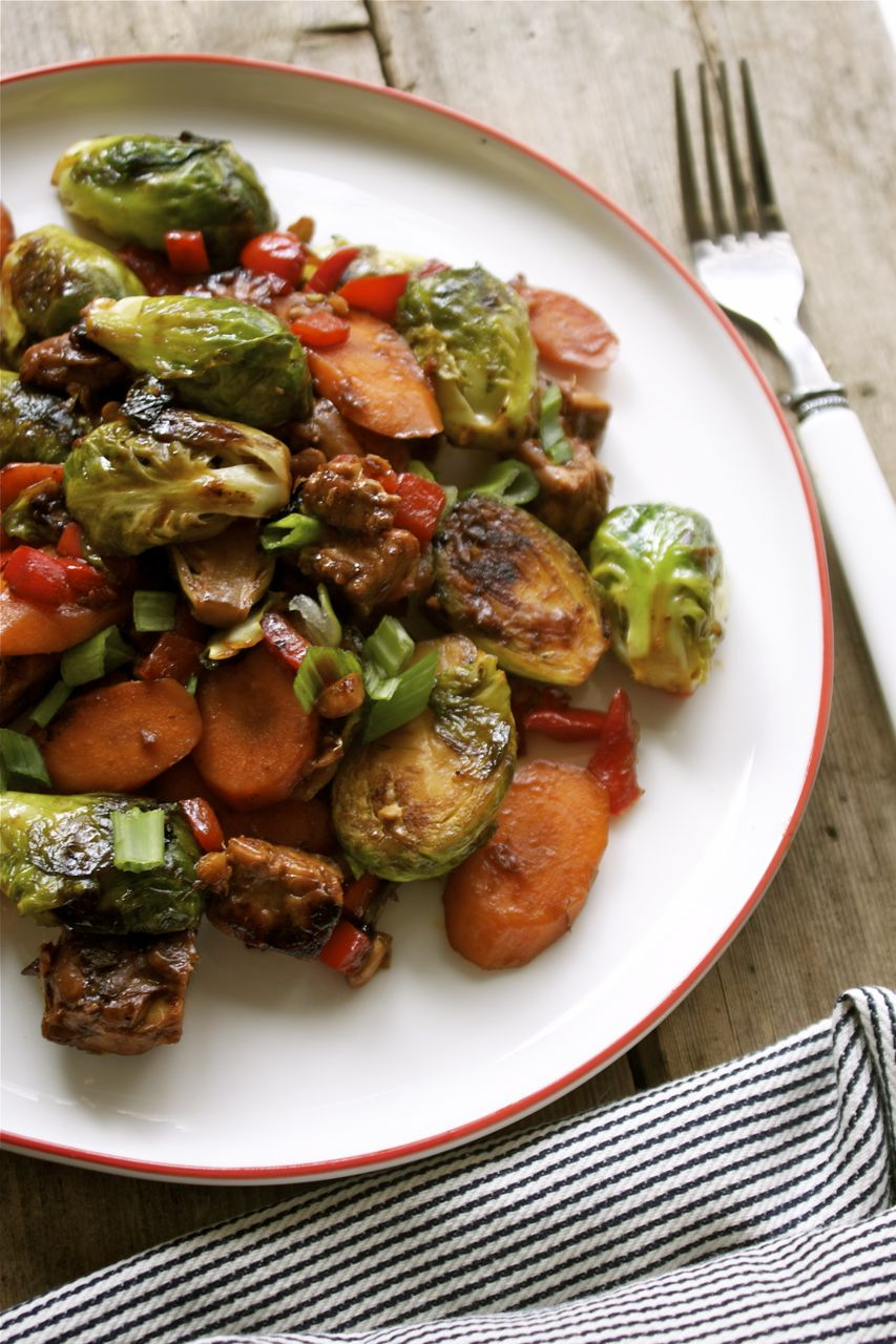 Brussels Sprout & Tempeh Stir-Fry | In Pursuit Of More