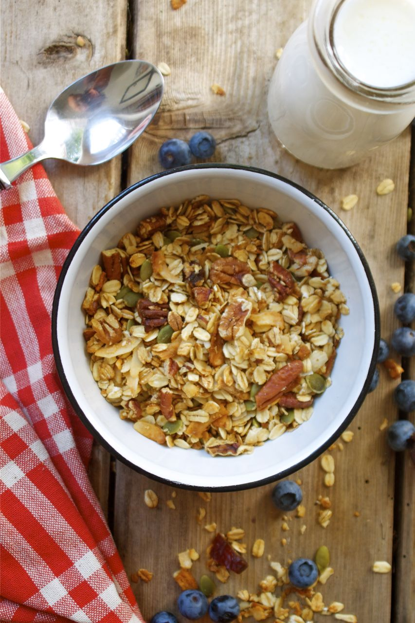 Pecan Coconut Cherry Granola Recipe — Dishmaps