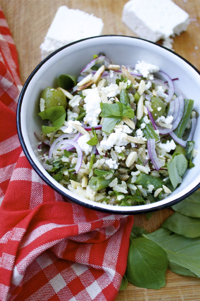 Herbed Brown Rice & French Lentil Salad | in pursuit of more