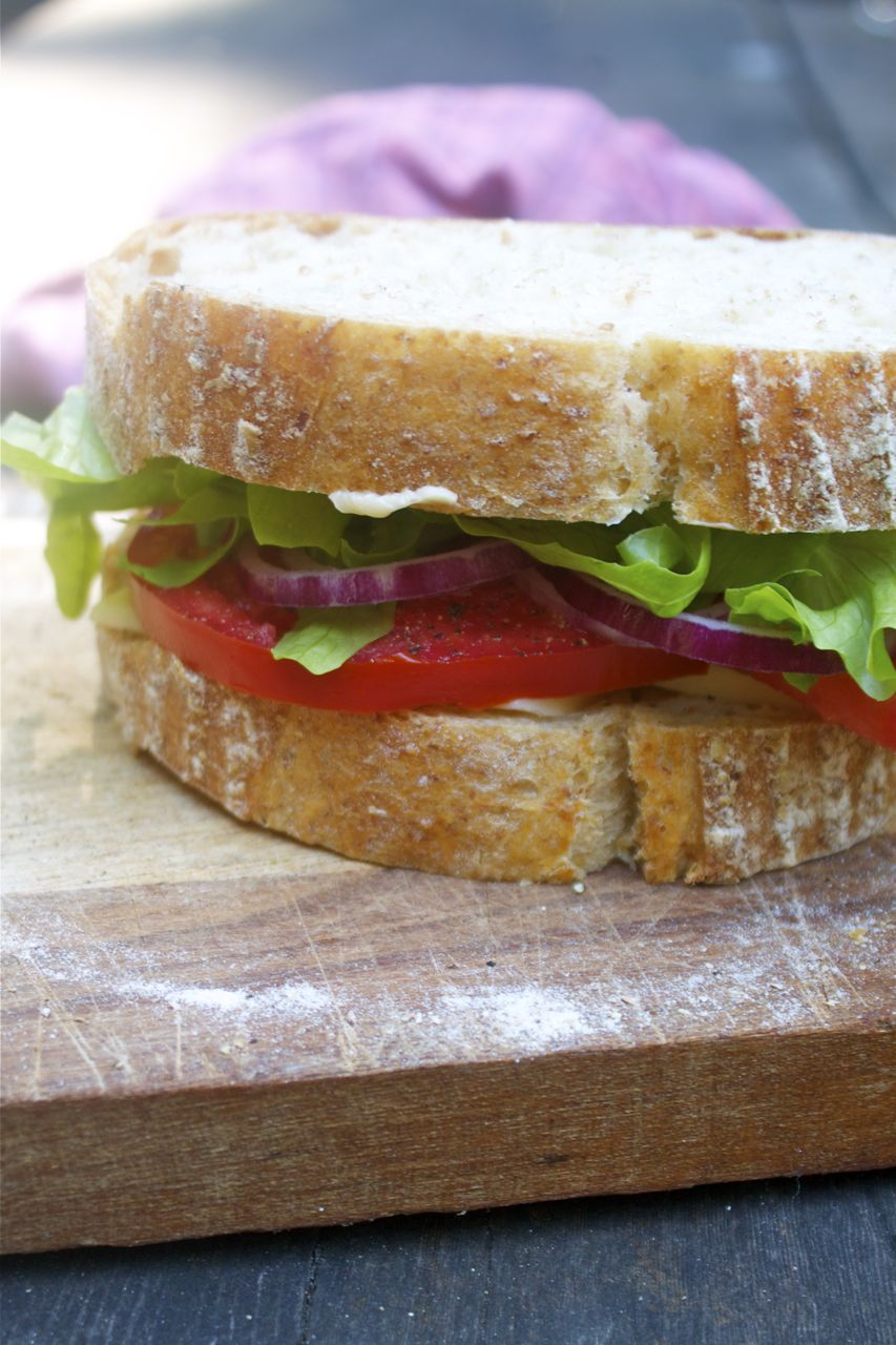 Veggie, Cheddar & Crusty Bread Sandwich