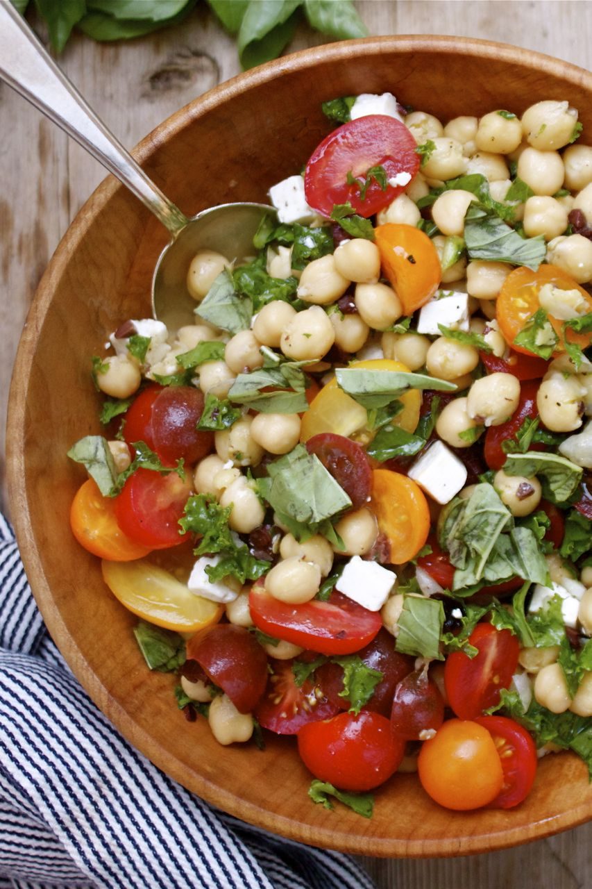 Summer Chickpea Kale Salad