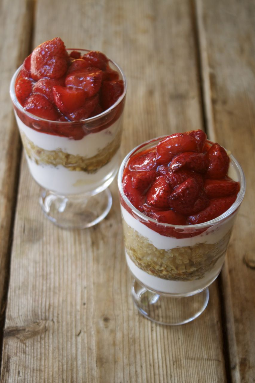 Roasted Strawberry & Quinoa Parfait