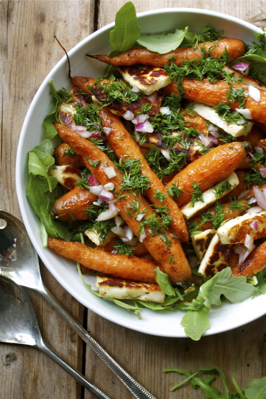 Roasted Carrots with Haloumi & Fresh Dill