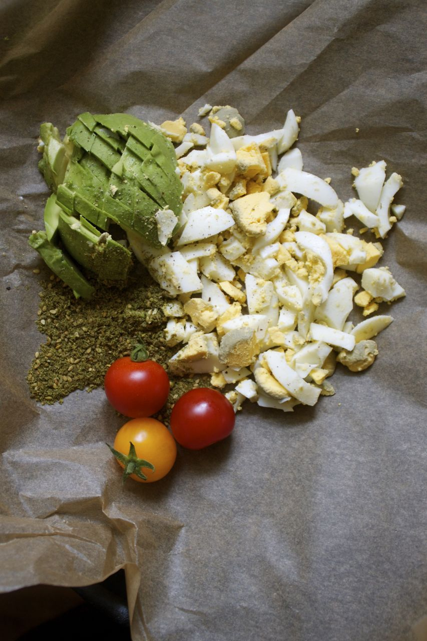 Easy Avocado Egg Salad Wrap with Za'atar