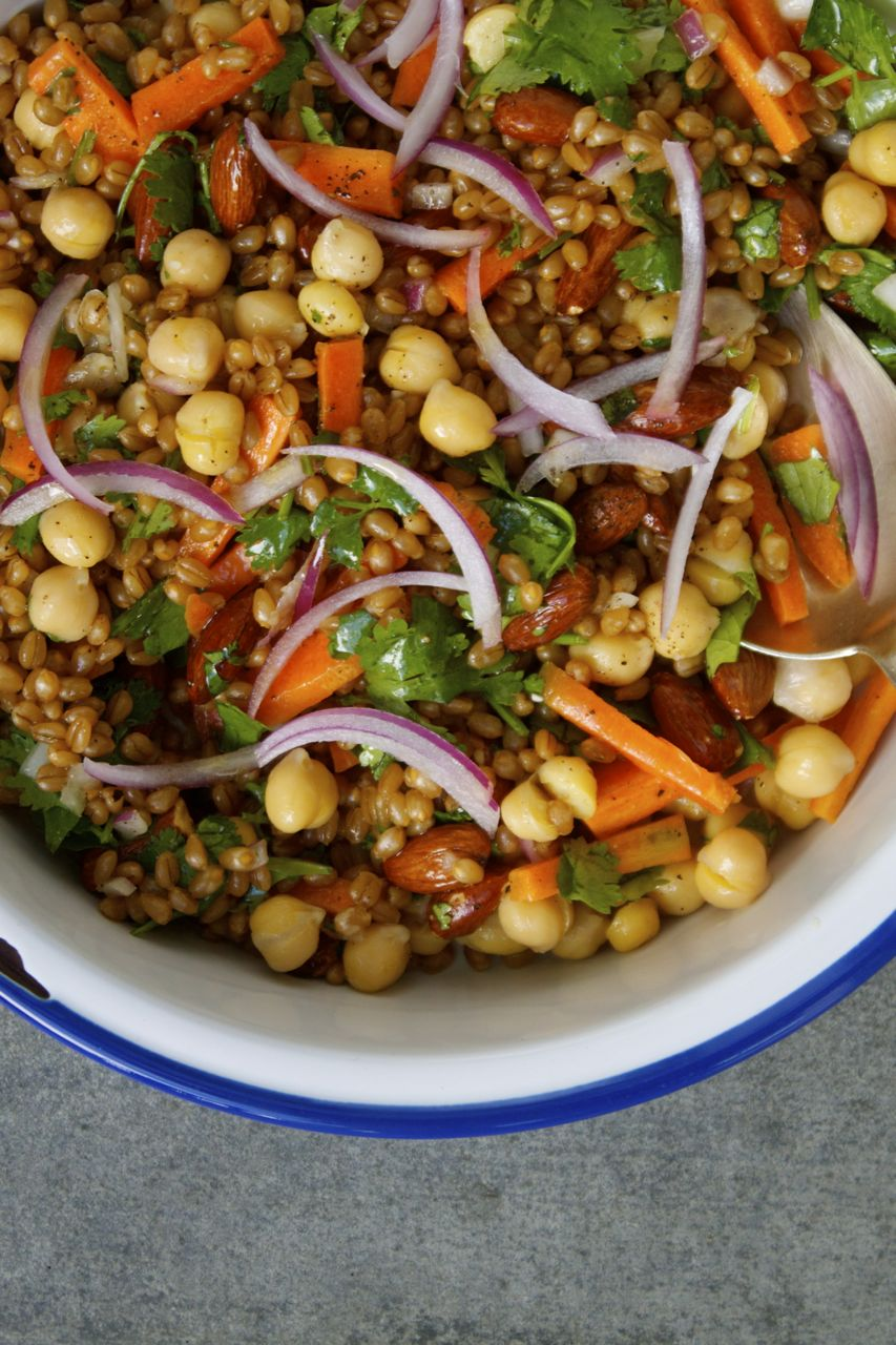 Super Chickpea + Wheat Berry Veggie Salad