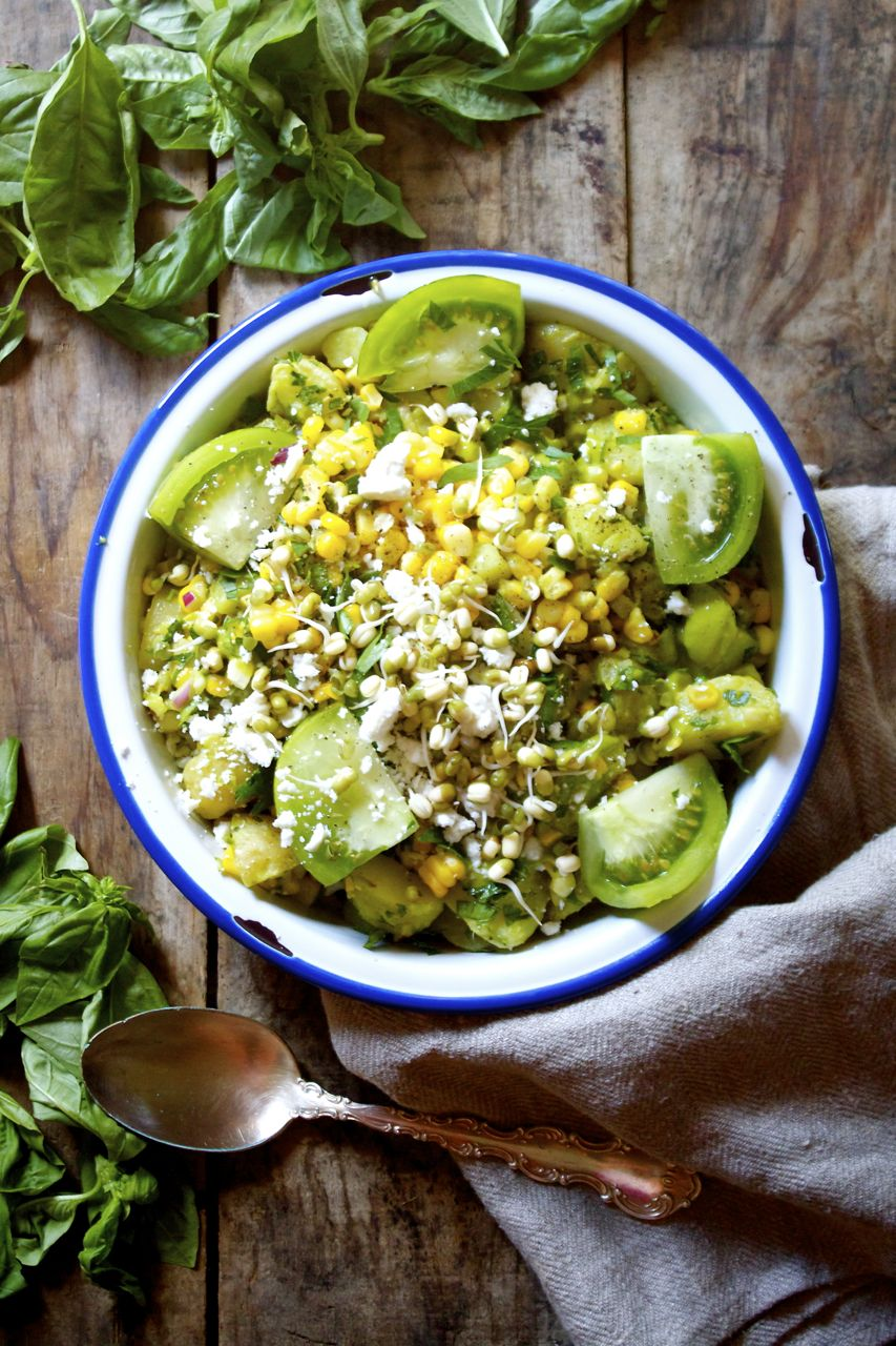 Summer Potato, Corn + Basil Salad | IPOM