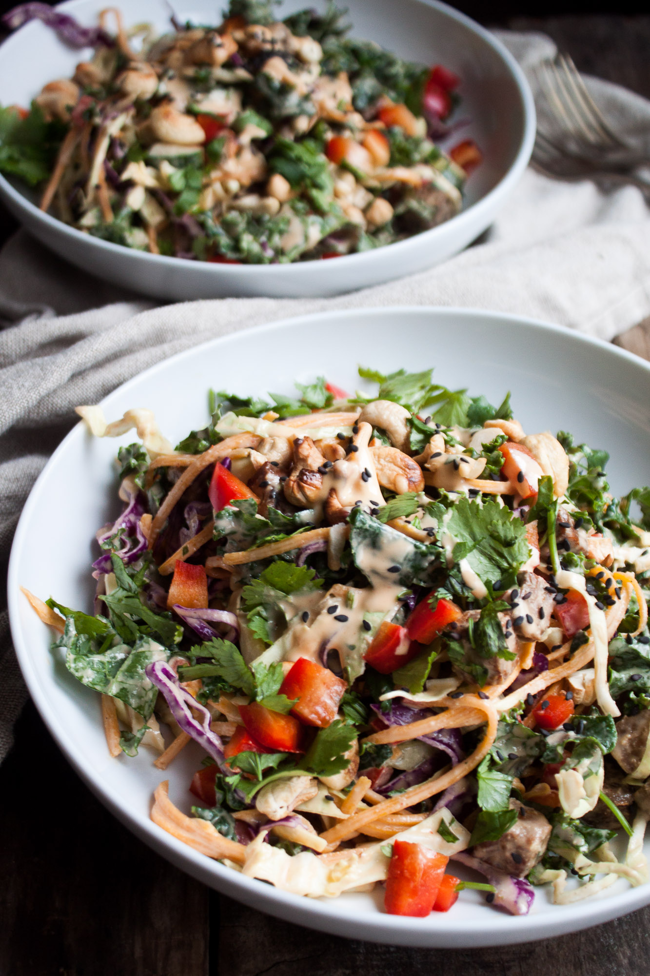 Winter Veggie Slaw with Citrus Tahini Dressing