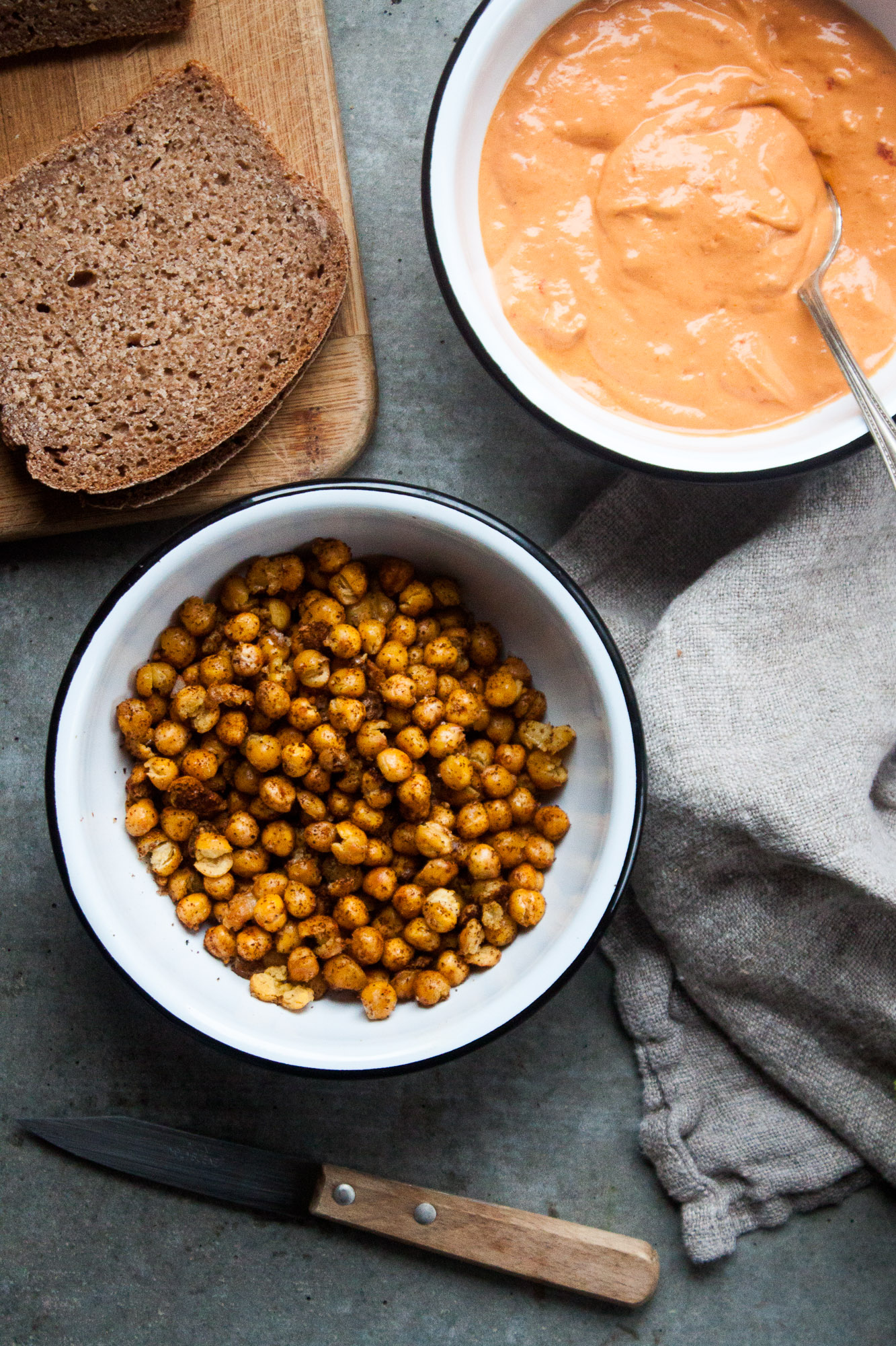 Open-Faced Toast with Crispy Chickpeas & Dukkah | in pursuit of more