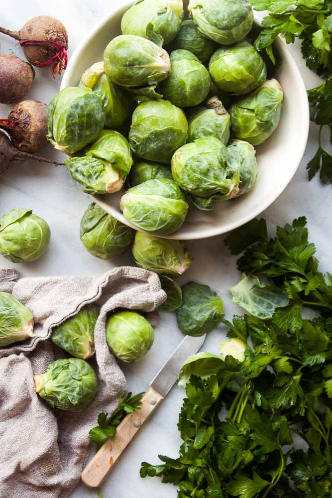 Moroccan Beets & Brussels Sprouts